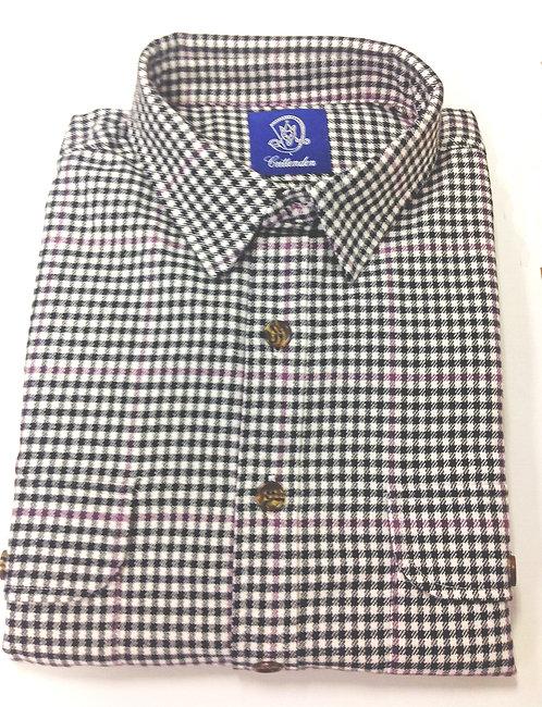 CR 58  Fall Flannel Shirt, Black and White Plaid