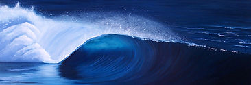 Painting of a tube wave by Tay Ashton