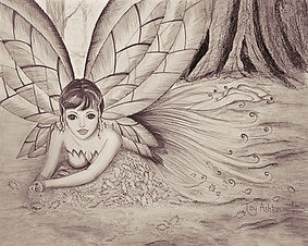 Mythical drawings in sepia from original artwork by Tay Ashton