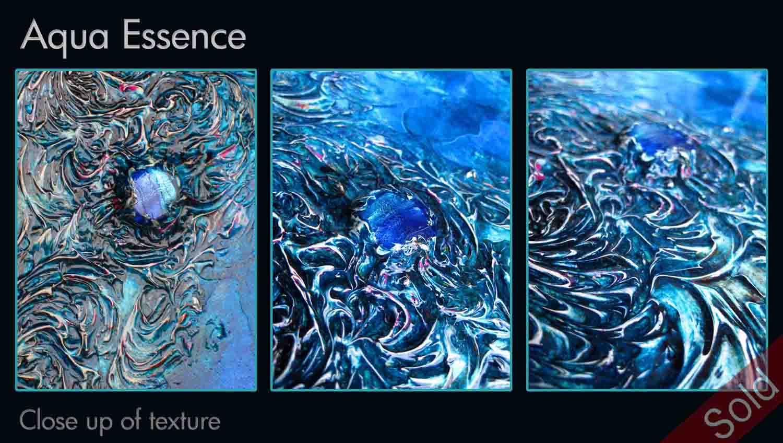 Aqua Essence close up of texture