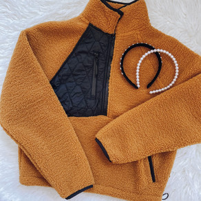 Black Quilted Cozy Fleece