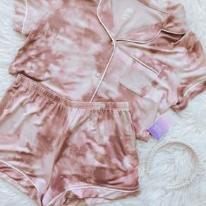 Pink Tie Dye Matching Pajama Set