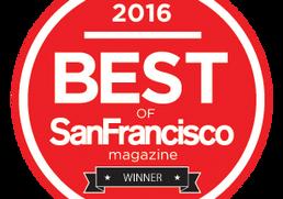 2016 WINNER of San Francisco Magazine:     CURLY HAIR STYLIST