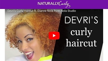 Dianne Nola cuts curly hair in video at Naturally Curly in Austin, Texas