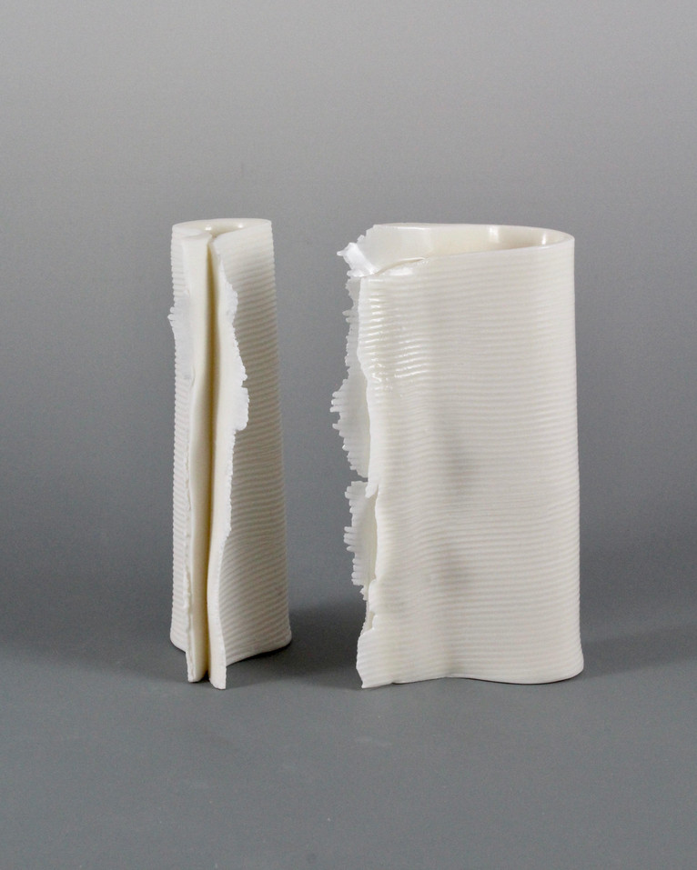 Folded Vase Pair by Margo Zak