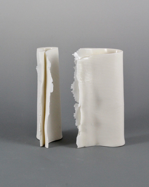 Folded Vase Pair by Margo Zak