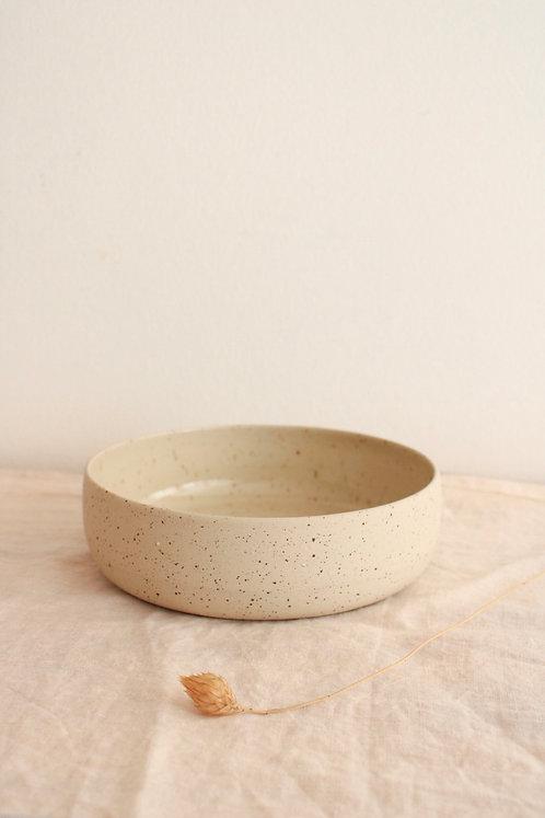 Assiette creuse pyritée