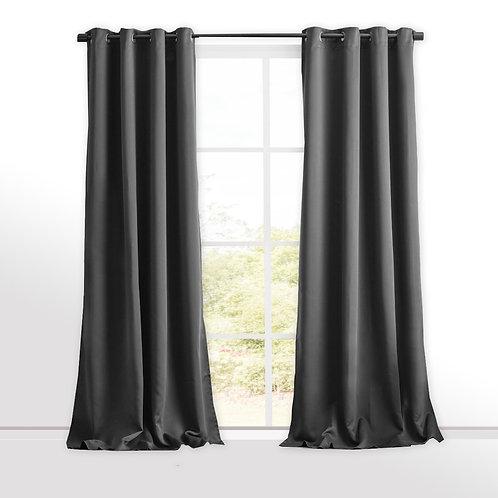 Set x 3 Cortinas Black Out textil con Argolla Metalica