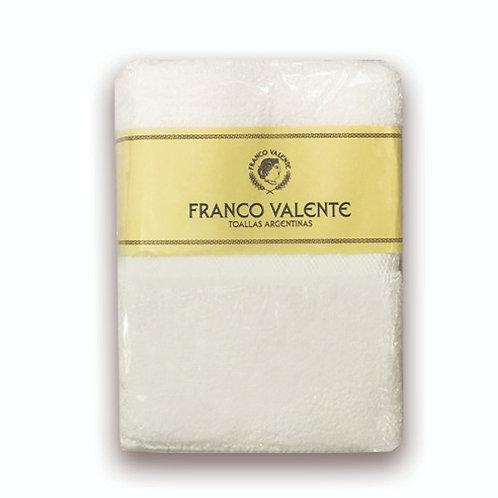 Set x 10 Toalla y toallon Franco Valente 500gr Blanco