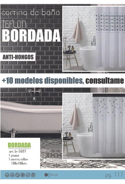 Cortina de baño Bordada - Varios diseños