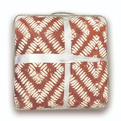 Frazada  Flannel con Simil-Corderito Estampada Twin Size