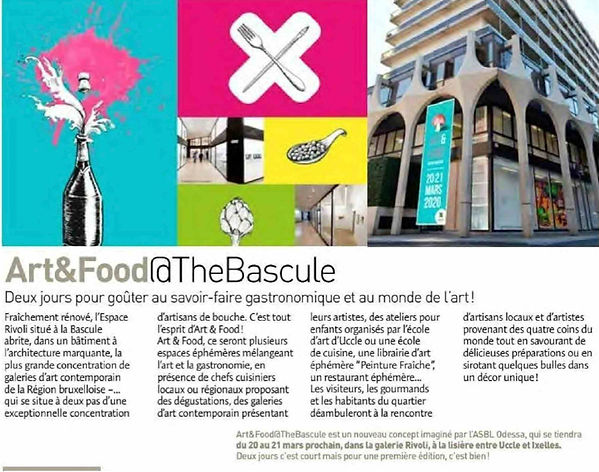 Art&Food @ The Bascule Odessa Bruxelles