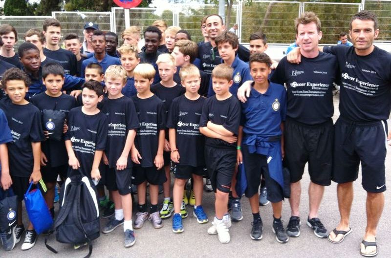 Soccexp kids Valencia team with Inter Milan under 12s.