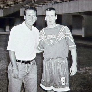 SE founder with Brazilian Legend Zico during playing days
