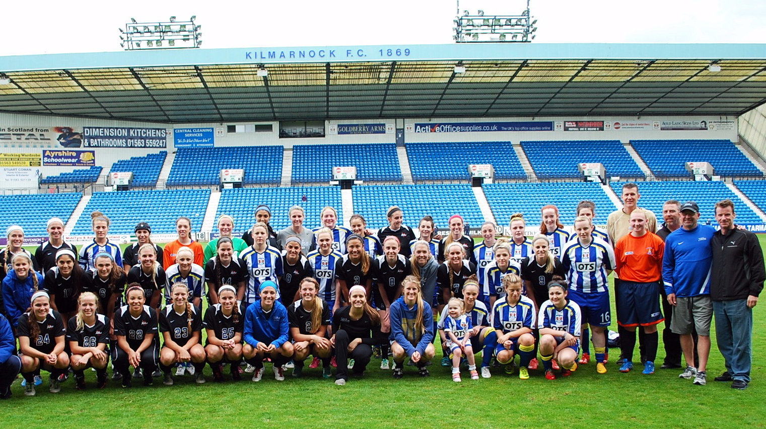 Tulsa ladies v Killie ladies at Rugby park