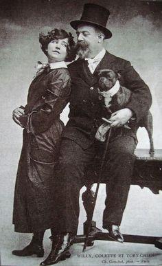 Colette, feminism, writer, lesbian, dog, black and white, vintage