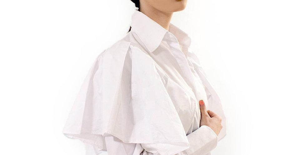 Ruffle Sleeve Button Down Shirt