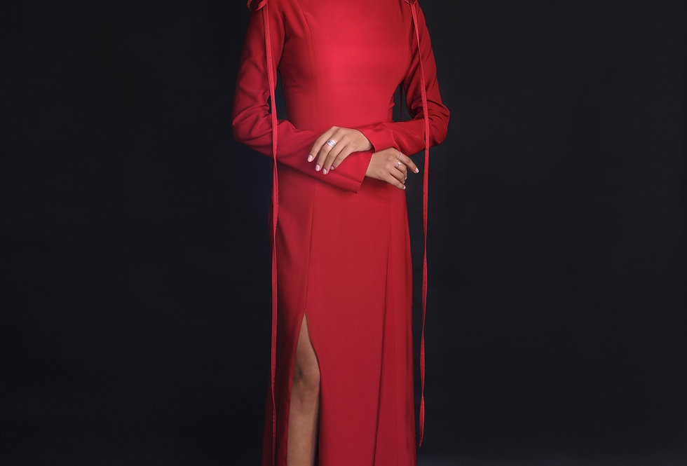 A Line Long sleeve Gown