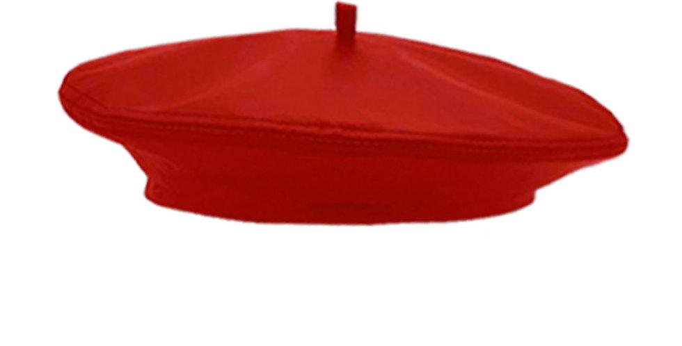 Vegan leather beret