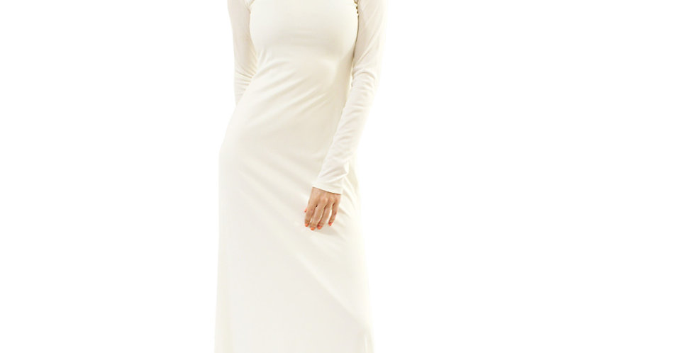 Knit Long Sleeve Floor Length Dress