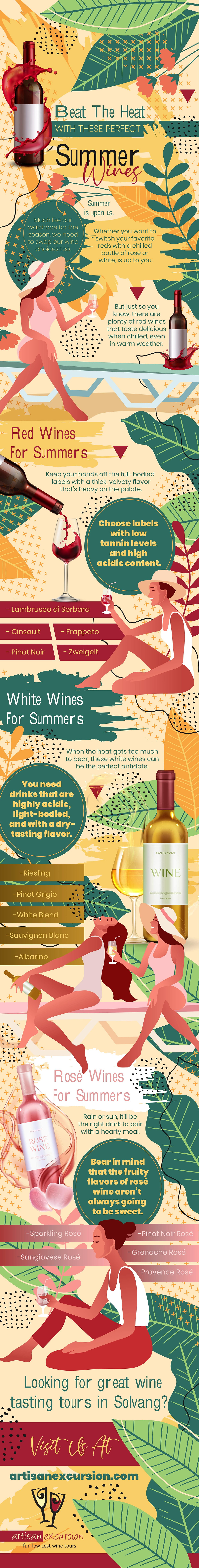 beat the heat with summer wines