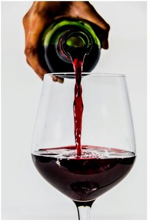 red grape wine