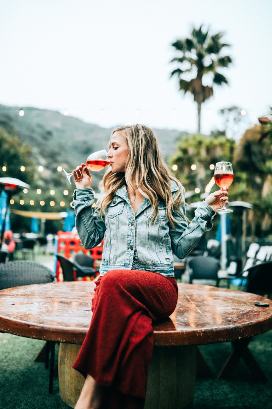 drinking wine at a wine festival