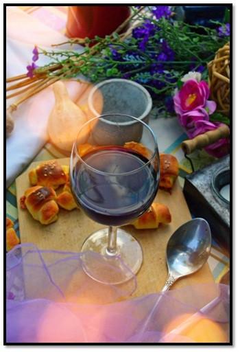 wine glass served