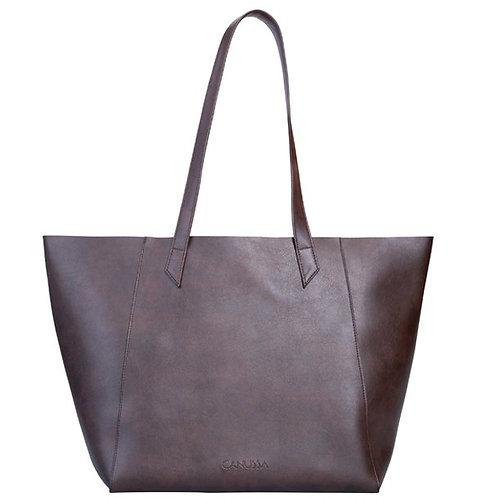 Hybrid Tote Brown – Shoulder Vegan Bag