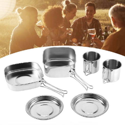 6 Pieces Set Stainless Steel Cookware