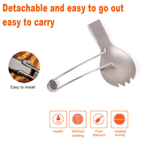 Titanium Fork and Spoon
