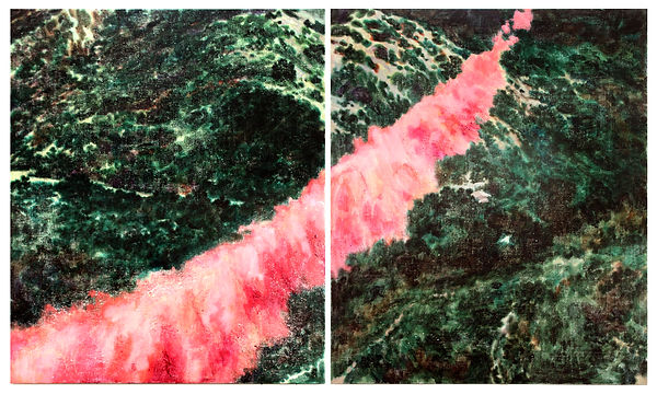 붉은자국, 캔버스에아크릴, 각72x60.6, 2018.jpg