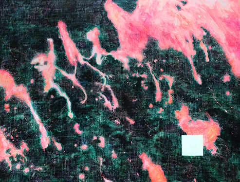 붉은 자국, 캔버스에 아크릴, 112.1x145.5, 2018.jpg