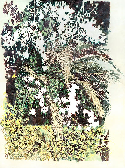 empty flower, acrylic on canvas, 290.9x2