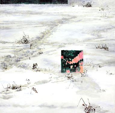하얀자국, 캔버스에 아크릴, 112x112, 2018_1.jpg