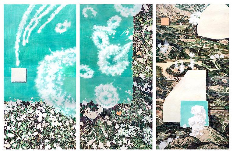 하얀자국(white trace), 캔버스에 아크릴, 각140x140 6점