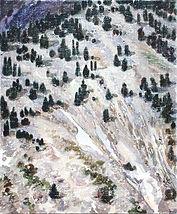 하얀조각으로부터 시작된 풍경, arylic on canvas, 45.5x