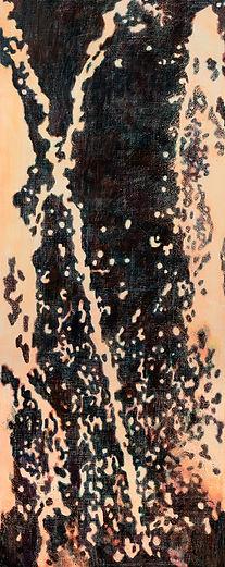 연등에서 비롯된 자국, acrylic on canvas, 200x80,