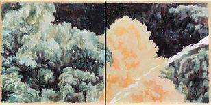 자국_light orange, acrylic on canvas, 30x30, 2020