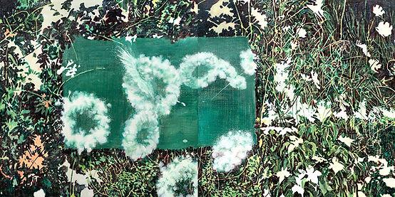 하얀 자국(white trace), acrylic on canvas, e