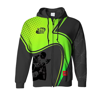 FIM Long Track sublimation hoodie