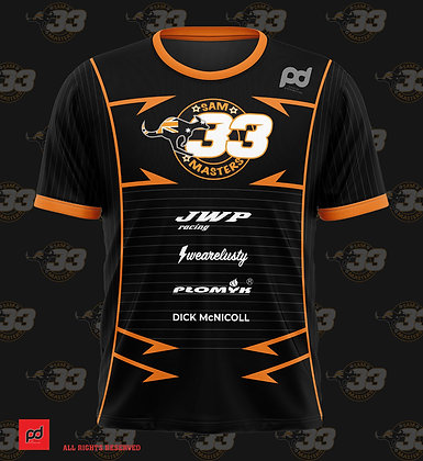 Sam Masters #33 sublimation t-shirt