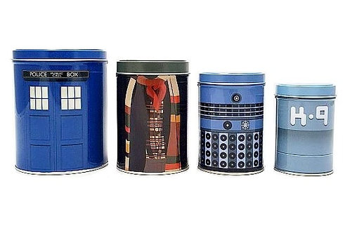 Doctor Who Tea Tin Canister