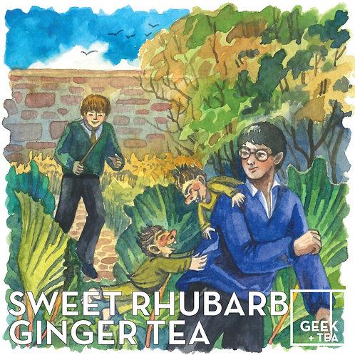 Sweet Rhubarb Ginger Tea | Organic Loose Leaf Black Tea | Rhubarb and Ginger