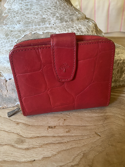 Mulberry Congo Leather Purse - Red