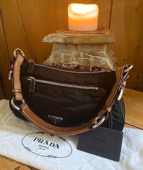 Prada Vela Vintage Nylon Pochette Bag