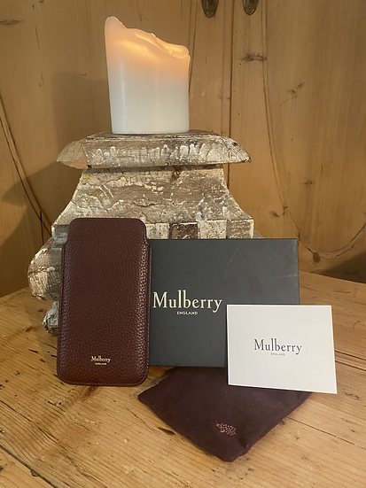 Mulberry Leather Phone Case - Oxblood