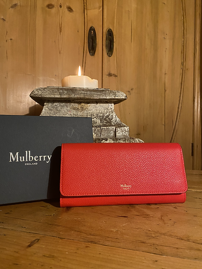 Mulberry Continental Wallet/Purse - Fiery Red