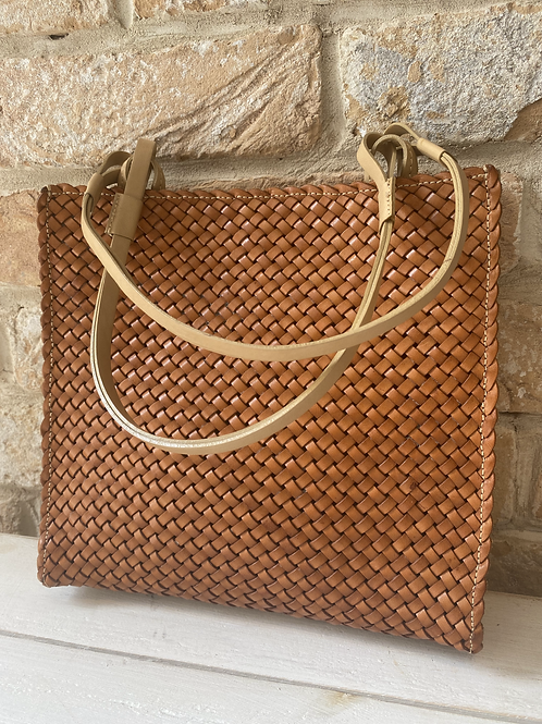 Russell and Bromley Woven Leather Bag - Tan