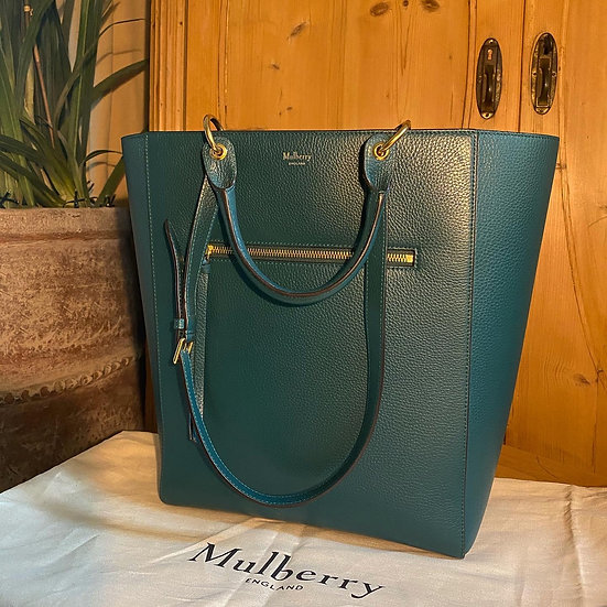 Mulberry Large Maple Tote ~ Teal Green